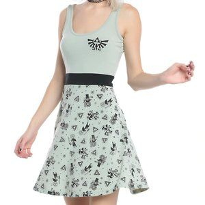 Legend of Zelda Hylian Crest Stamp Skater Dress